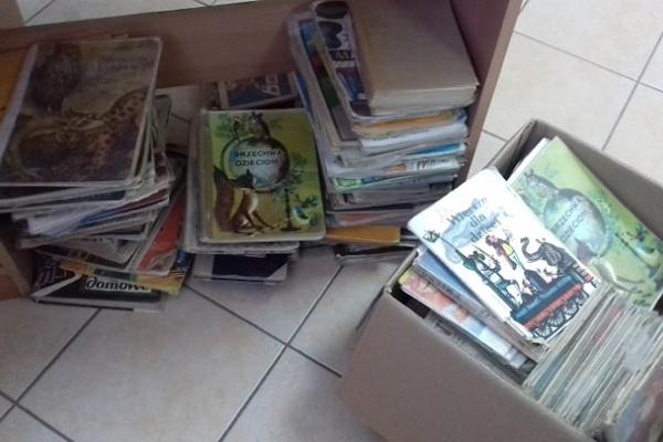 Zdjęcie przedstawiające stos książek